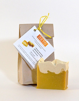 "For face Soap ""Goat 's milk, sea buckthorn and honey"""
